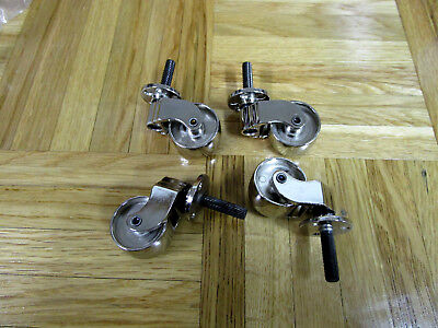 Caster ASSEMBLY Metal Furniture Wheels Chrome Table/Chair [Set of 4], used for sale  Shipping to Canada