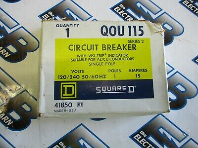 Square D Qou115 15 Amp 120 Volt 1 Pole Series 2 Circuit Breaker- New