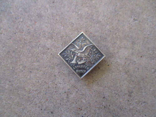 vintage 1910 Anheuser Busch Beer Brewery early advertisor lapel pin stud RARE