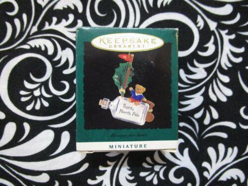 "1996 CHRISTMAS! MINIATURE HALLMARK ORNAMENT ""MESSAGE FOR SANTA"" T3100"