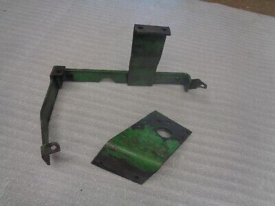 John Deere 420 Crawler Dozer. Oil Reservior Valve Support Brackets.
