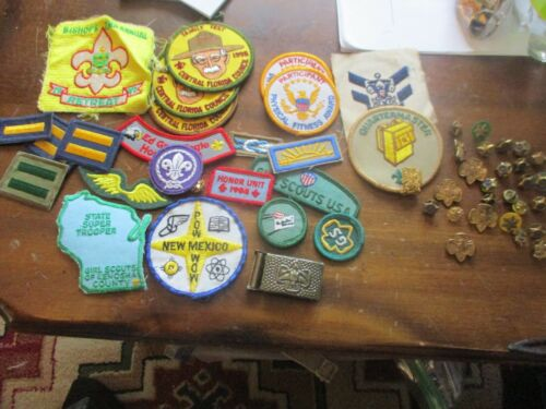 boy and girl scout badges and pins