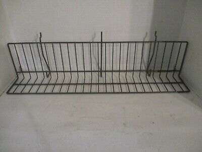 Ten 10 24 Wire Shelving For Slat Wall Peg Board Grid Wall Gray