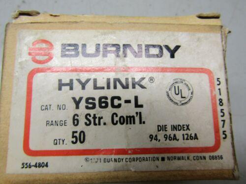 Burndy YS6C-L Lot of 56!