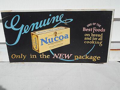 GENUINE NUCOA OLEOMARGARINE 1927 CHROMOLITHOGRAPH ADVERTISING STORE SIGN RARE