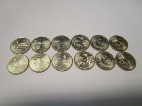 BU. 2009 P&D QUARTERS SET DC AND US TERRITORIES 12 COINS