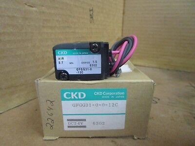 Ckd Solenoid Valve Gfgg31-0-0-12c Gfgg31-0-12c 24 Vdc New