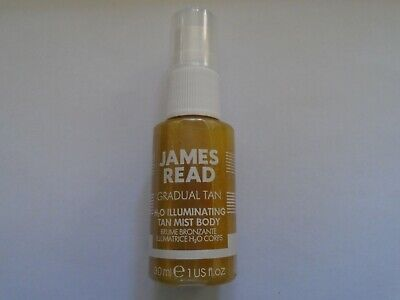 James Read Gradual Tan H2O Illuminating Tan Mist Body Spray 30ml NEW