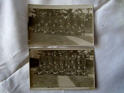 WW ! U S Army 1st Army Real Photo Postcard France Soldiers Lot of 2