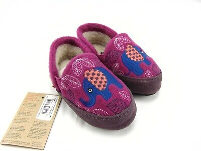 Acorn Comfort On Earth Colby Gore Magenta Kids Infants Slippers Size 8-9
