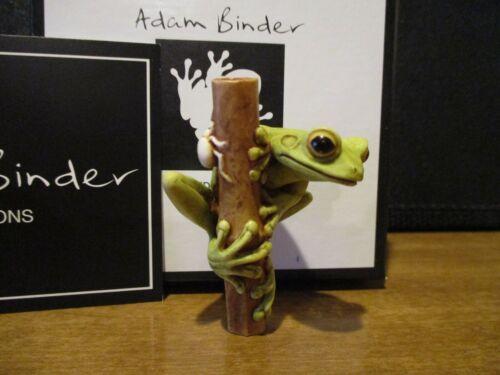 Harmony Kingdom Artist Adam Binder Frog On Cane Green 217/250 RARE