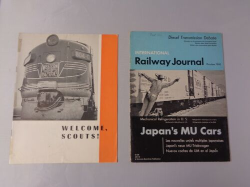 Lot of 2 vintage Railroad news Welcome Scouts Western Pacific and 1960 Railway j
