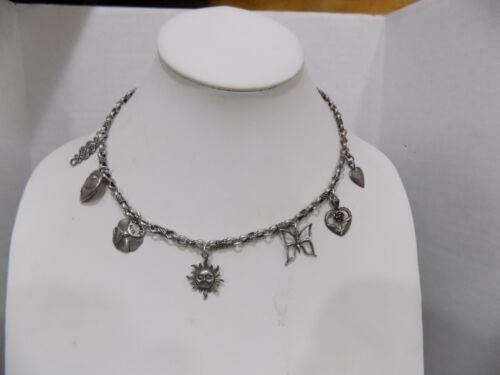 Peyote Bird Designs Santa Fe, 925 Vintage Sterling Silver Chain Necklace Charms