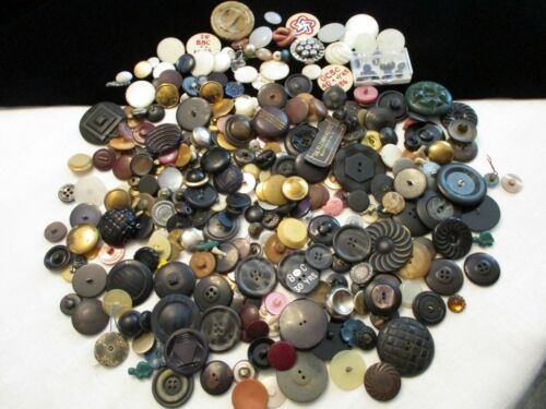 CUSTOMER APPRECIATION LOT of 308 FABULOUS Antique / Vintage CLOTHING BUTTONS