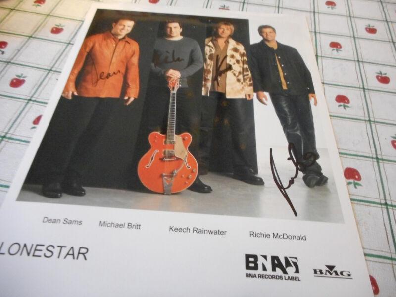 Autographed Lonestar Color  Publicity Photo