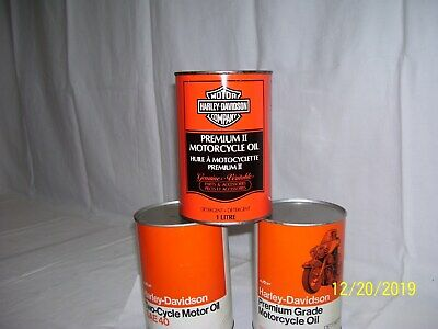 """HARLEY DAVIDSON OIL CAN """" SUPER  RARE AMERICAN / CANADIAN CAN"""" FULL, METAL CAN,"""