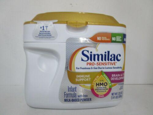 Similac Pro Sensitive Formula Iron Milk Base Powder 1.41Lb Exp 01/01/22 JL 13613