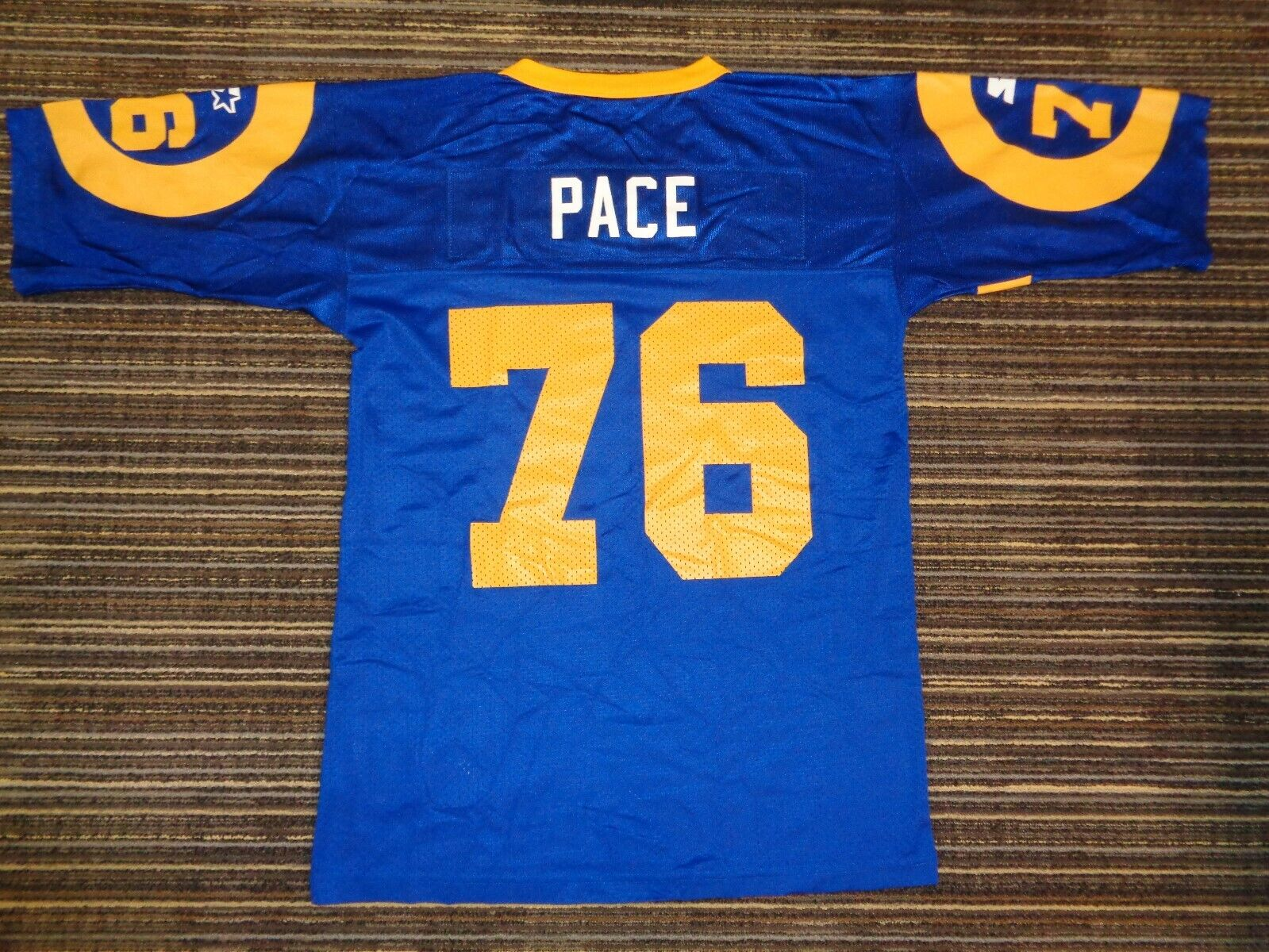 ORLANDO PACE 76 ST. LOUIS LA LOS ANGELES RAMS STARTER NFL GAME FOOTBALL JERSEY - $39.99