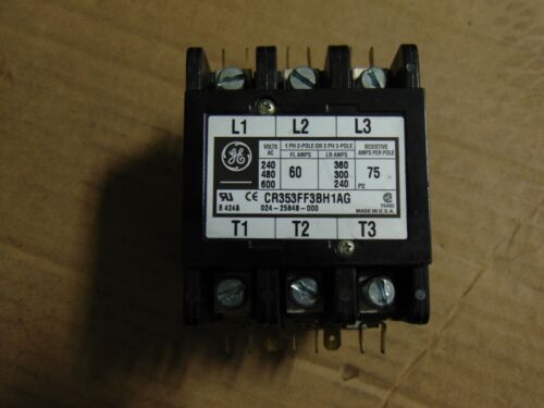 GE GENERAL ELECTRIC CR353AB3BH1 24 VOLT 3 POLE CONTACTOR