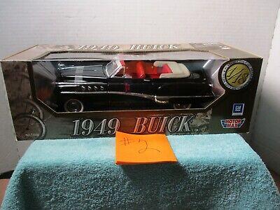 1/18 SCALE MOTORMAX BLACK 1949 BUICK #2