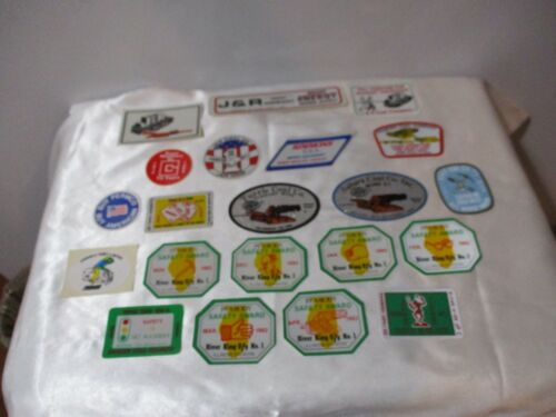 21 PEABODY COAL COMPANY COAL & OTHER MINING STICKES HARD HAT DECALS VINTAGE