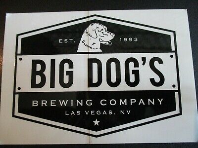 BIG DOGS BREWING CO dirty dog Las Vegas bcl hex STICKER decal craft beer brewery