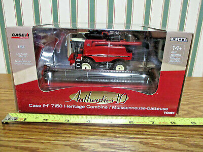 Case IH 7150 Heritage Combine #10 Authentics Series By Ertl 1/64th Scale