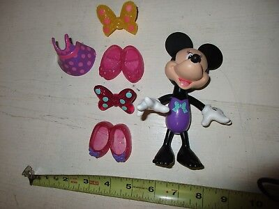 Fisher price snap N style Minnie Mouse LOT B Disney fun clothes dress purple