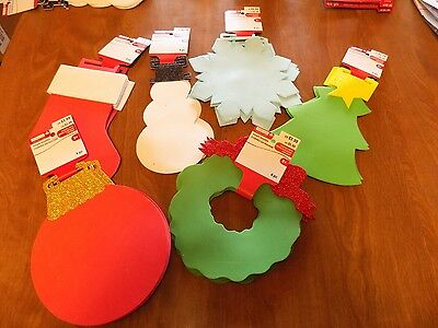 New 2 Pkgs.= 8 Pc. Christmas Foam Shapes for Kids Crafts-Tree,Wreath,Snowflake](Foam Snowflakes)
