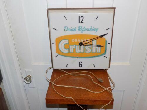 Vintage Orange Crush Lighted PAM Clock