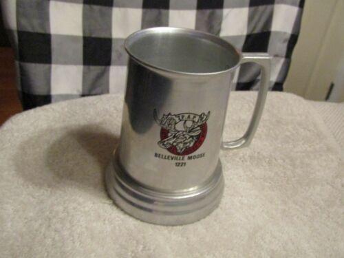 Vintage Loyal Order of Moose Belleville IL Lodge 1221 Mug Stein Aluminum Glass