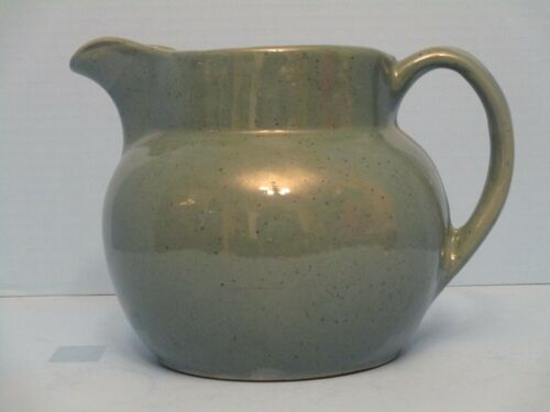 REDUCED - KENTUCKY BYBEE POTTERY PITCHER TEAL/GREEN WITH NAVY BLUE SPECKLES