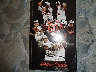 2014 BALTIMORE ORIOLES MEDIA GUIDE Baseball Yearbook Program Press Book AD