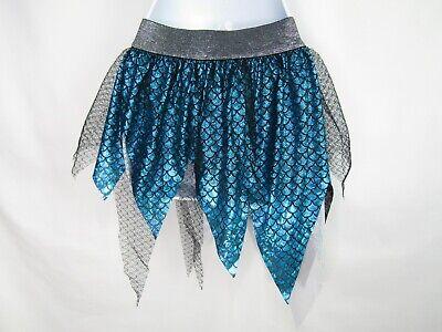 Claire's Iridescent Mermaid Layered Blue Scales Glitter Tutu Halloween Costume
