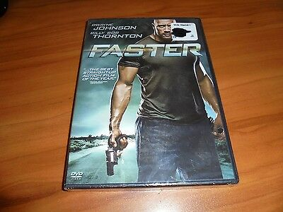 Faster  Dvd  Widescreen 2011  The Rock  Billy Bob Thornton New