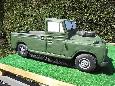 Landrover planter garden ornament