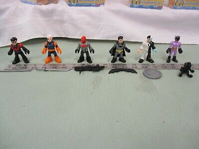 Fisher Price Imaginext series 1 Complete lot of 6 figures DC red hood Bruce