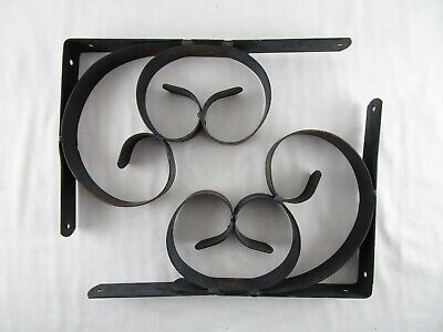"8/"" 21cm Pack of 2 x Blacksmith Square Hook Brackets"