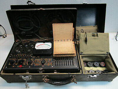 Vintage Us Military Tube Tester Set - Triplet Model 1183-sc - Field Unit