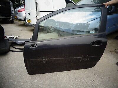 FIAT 500 GRANDE PUNTO EVO DOOR WING MIRROR COVER CAP BLACK Left Passenger N//S
