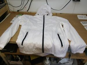 SOUTHPOLE MEN'S WATER RESISTANCE HOODED WINDBREAKER JACKET WHITE- MEDIUM