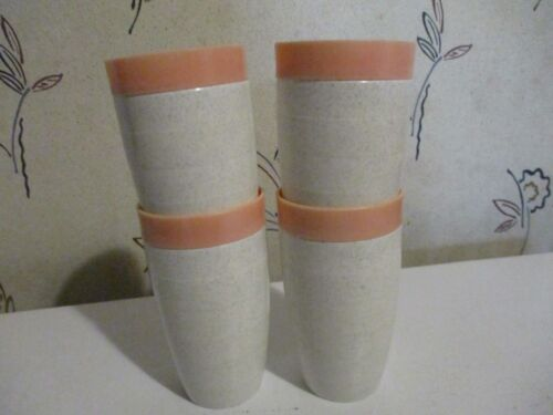"Lot of 4 Vintage Cornish Nesting Thermo Tumblers 8 Oz. 5-1/4"" x 2-3/4"""