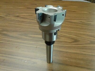 3 90 Degree Indexable Face Mill Shell Millapkt W. Mt2 Morse Taper 2 Arbor