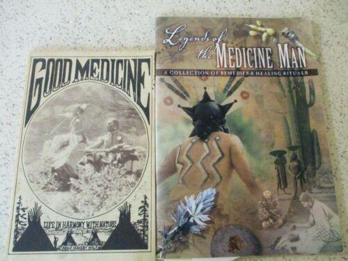 "2 NATIVE AMERICAN BOOKS, 1970 ""GOOD MEDICINE"" & 2001 ""LEGENDS OF THE MEDICINE"""