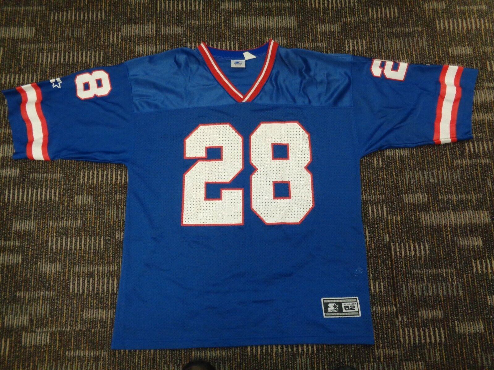 NWOT TYRONE WHEATLEY 28 NY NEW YORK GIANTS STARTER NFL GAME FOOTBALL JERSEY XL - $29.99