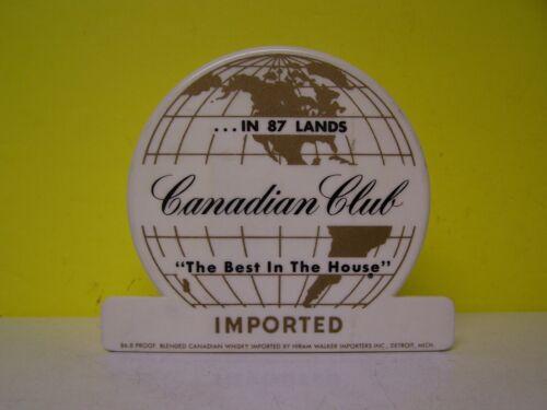 CANADIAN CLUB WHISKEY  IN 87 LANDS Bar Caddy Napkin Straw Swizzle Holder
