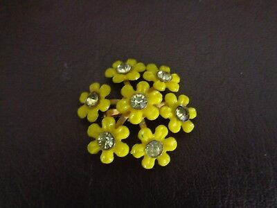 Vintage Colorful Yellow Daisy Pin/Brooch (Cat.#J4027)