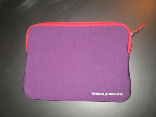 IBERIA AIRLINE SPAIN amenity kit bag i pad mini holder padded pouch travel