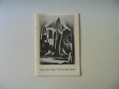 City Life New York in the 1930s Whitney Museum of Art Exhibition Booklet -