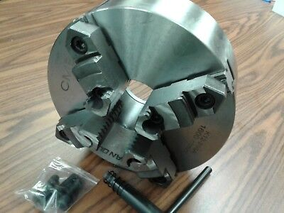 10 4-jaw Self-centering Lathe Chuck Top Bottom Reversible Jaws 1004f0-sf-new